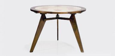 Table Teak wood CodeAK.78.LY  size D:100 cm. high 75 cm