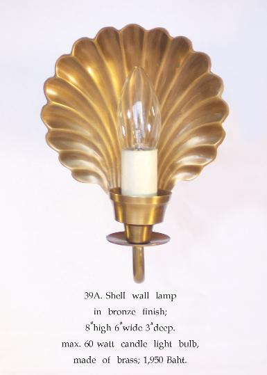 Wall Lamp brass Item Code ELS39