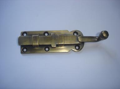 Brass door handle code W.009 size L: 115 mm. W: 31 mm.