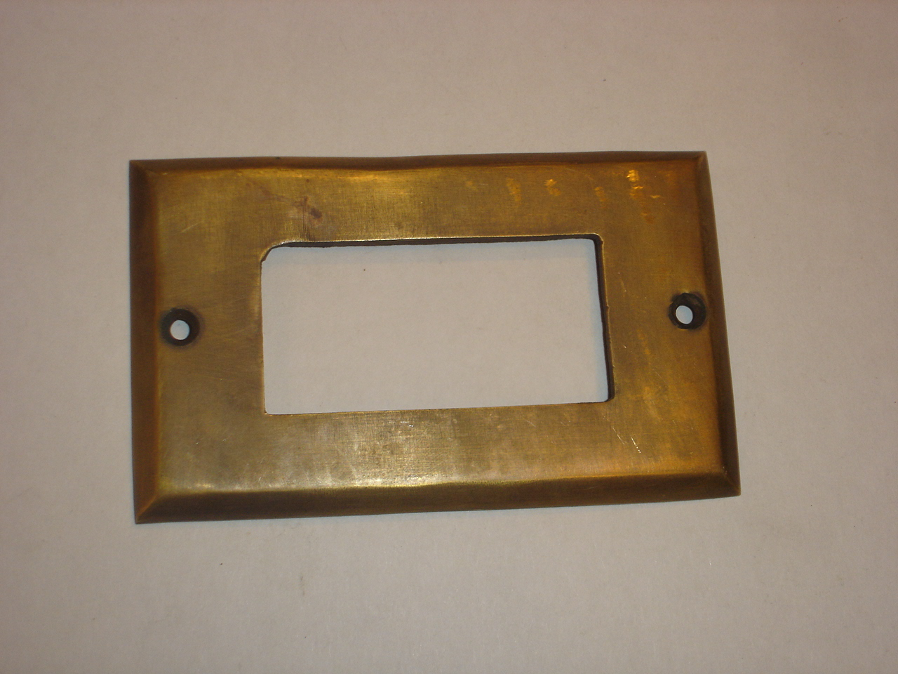 Brass switch cover Code AE.051 size 115 x 71 mm.