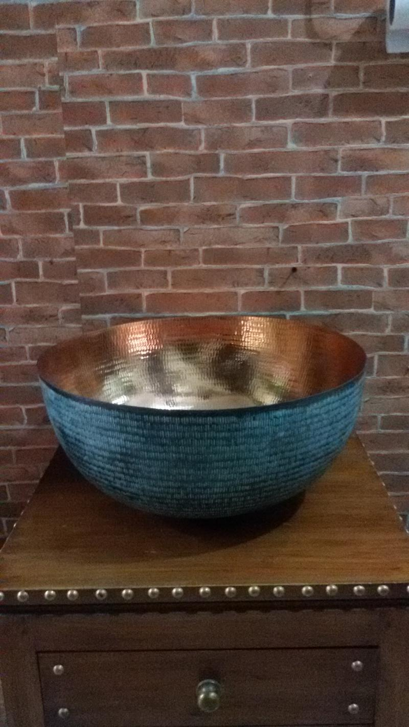 Copper Sink code CPS11A size wide 39 cm.high 18 cm.