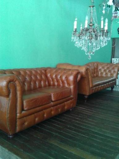 Leather sofa classic style Item code FLS001 size long 180 cm.wide 60 cm.