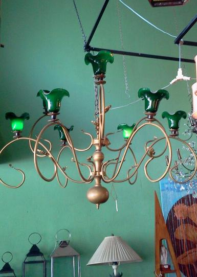 Hanging Lamp material is brass with iron Item code HGL11R size wide 150 cm.high 120 cm.