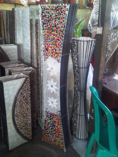 Mosaic Shell Lamp 100B size high 1.5m.