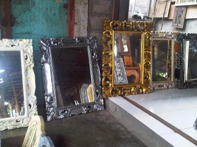 wooden mirror CodeWM100F size 100x70cm