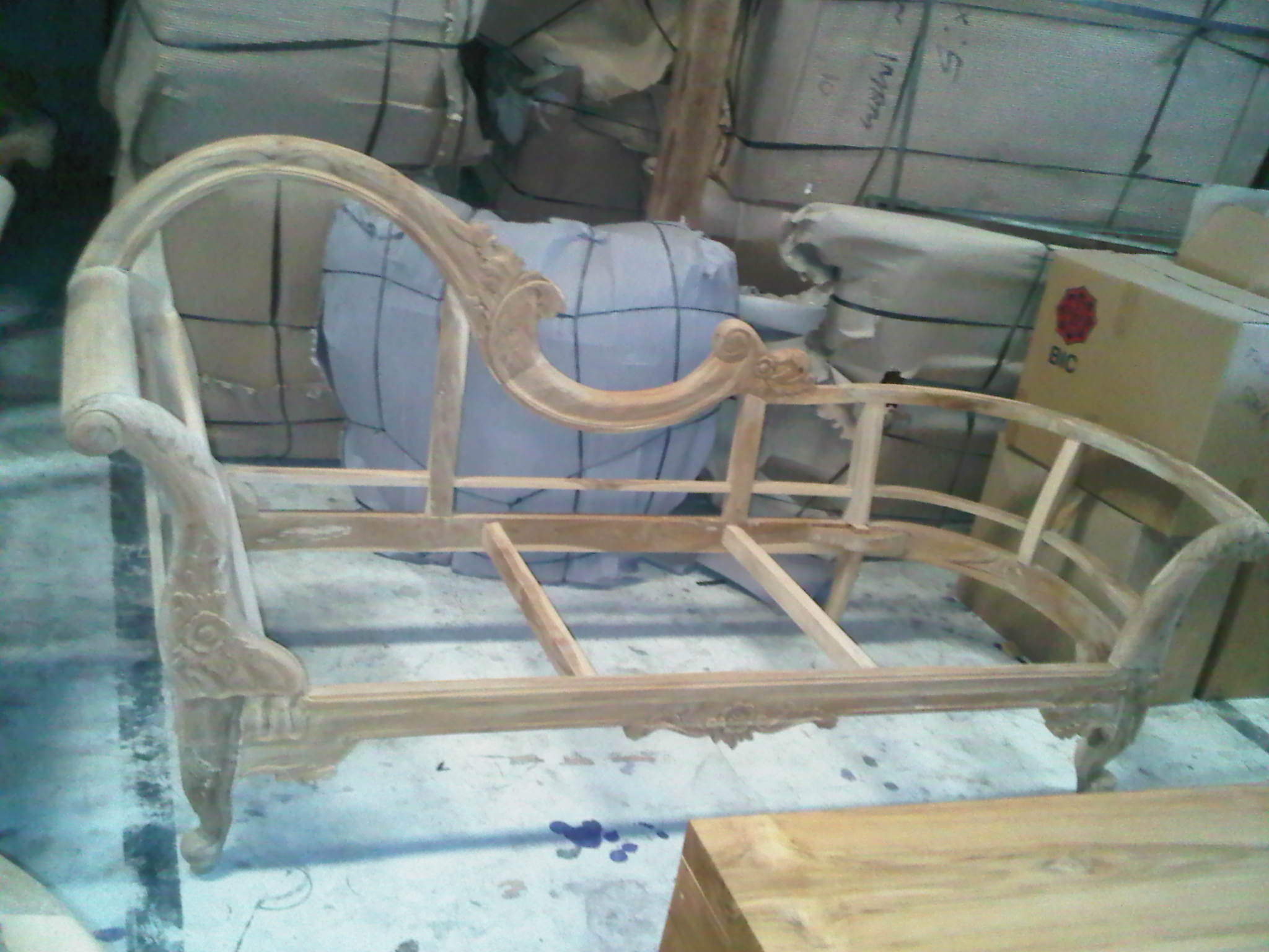 Day Bed frame with carving teak wood size 1.80 m.x70 cm.