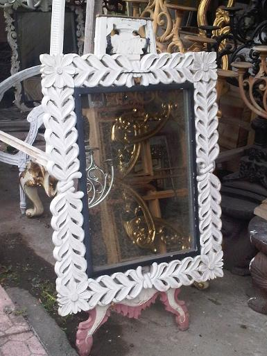 wooden mirror CodeWM100A size 100x70cm