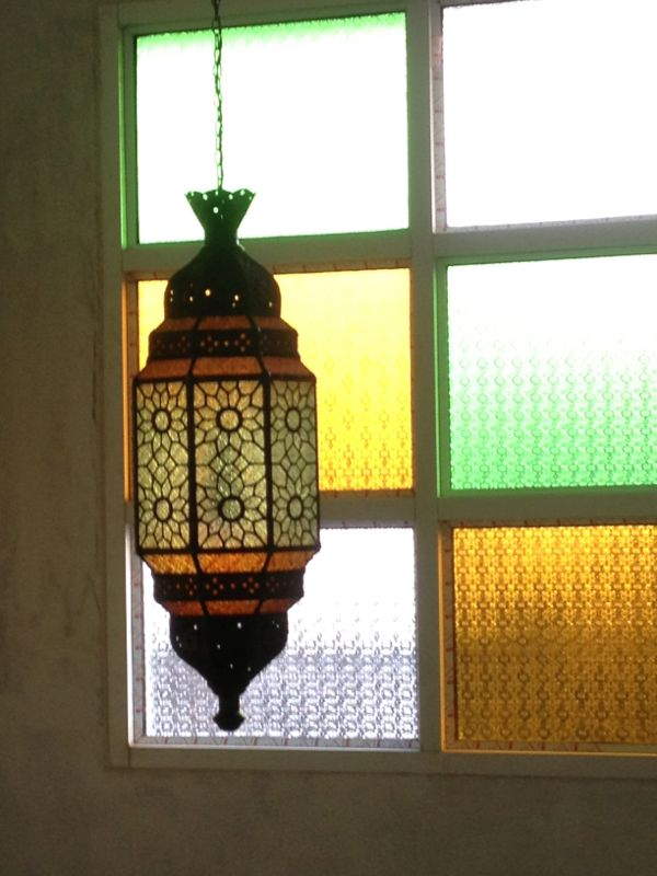 Morocco Lamp Code MRL01L materail brass with glass size long 83 cm.not include chain .wide 30 cm.