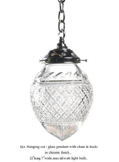 Hanging Lamp crystal with brass in nickle color finish Item Code ELS18SV size Cut glass