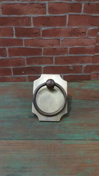 Brass Handle Item code P.125A size 87 mm.wide 63 mm.