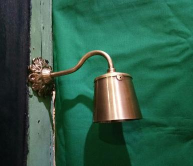 Brass wall lamp Item Code WLDL19 size base 83 mm.lamp high 80 mm wide 76 mm.