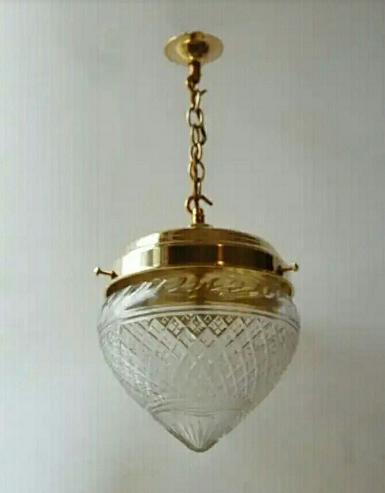 ็Hanging Lamp brass with cut glass Item Code ELS016H Item coming soon