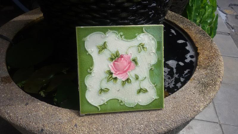 Antique tile Item code ATF 01A Size 15 x 15 cm.