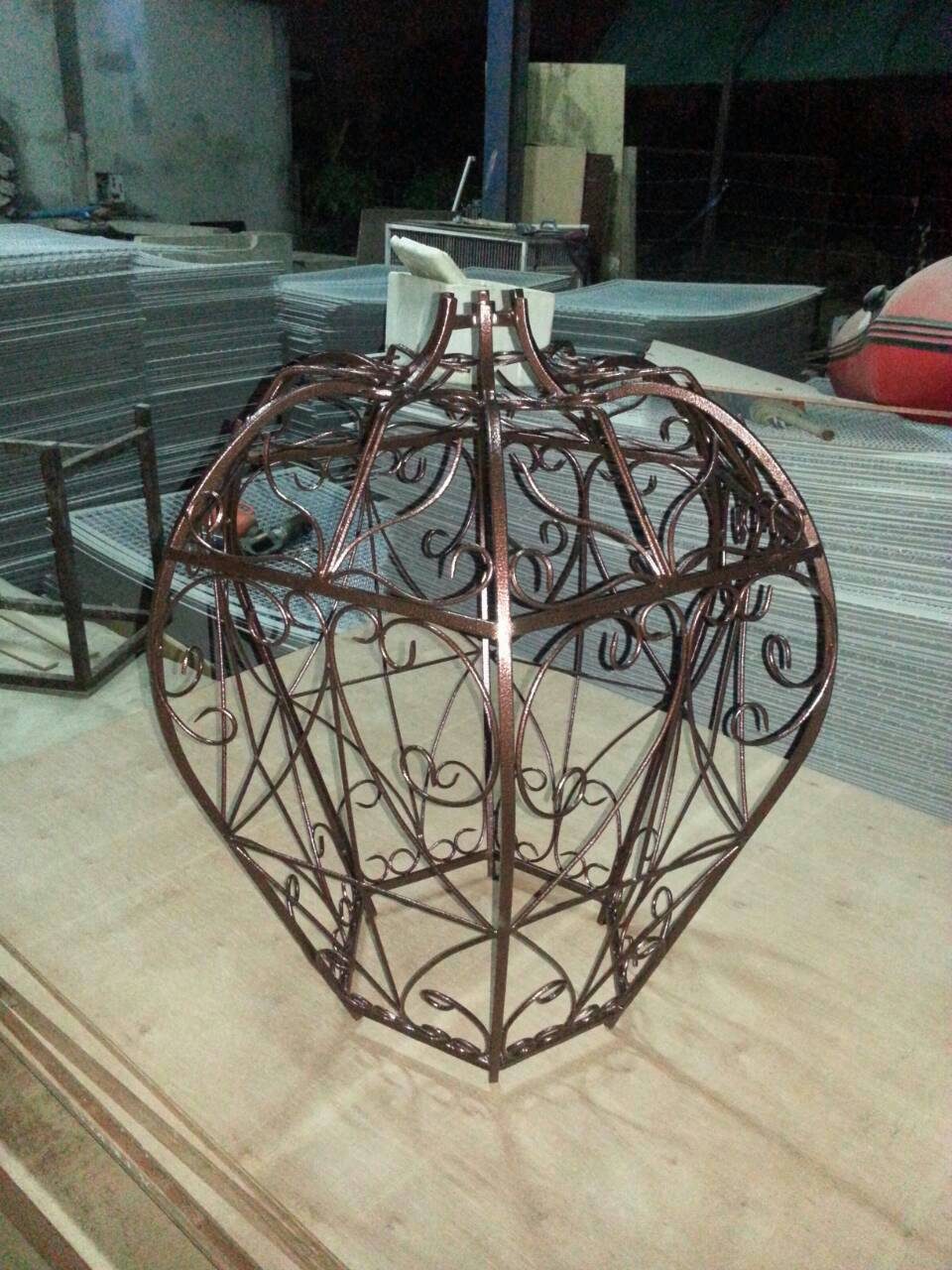 IRON  CURVED LAMP Item code IRL50 size long 90 cm. wide 69 cm. (only body)