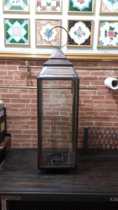 Lantern Lamp brass Code MRC007D size high 80 cm. wide 22 cm.