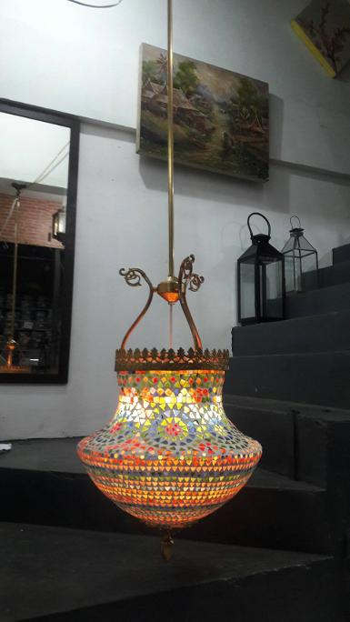 Morocco hanging lamp Item code LTL19 size wide 40 cm.high include stick 150 cm.