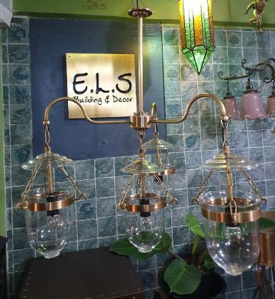 Hanging Lamp 4 light glass 5'' Item Code HGLU54 size glass 5'' wide 600 mm.long total 860 mm