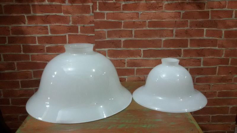 Glass Lamp shade code GLS001A size 37mm x 160mm x top 8.1 cm