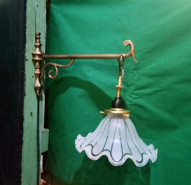 Wall Lamp brass with glass Item Code WLPL50
