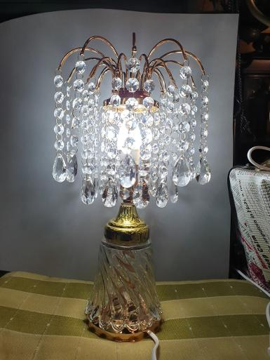 Chandelier table Lamp Item Code TBLC018 size wide 200 mm. high 390 mm.