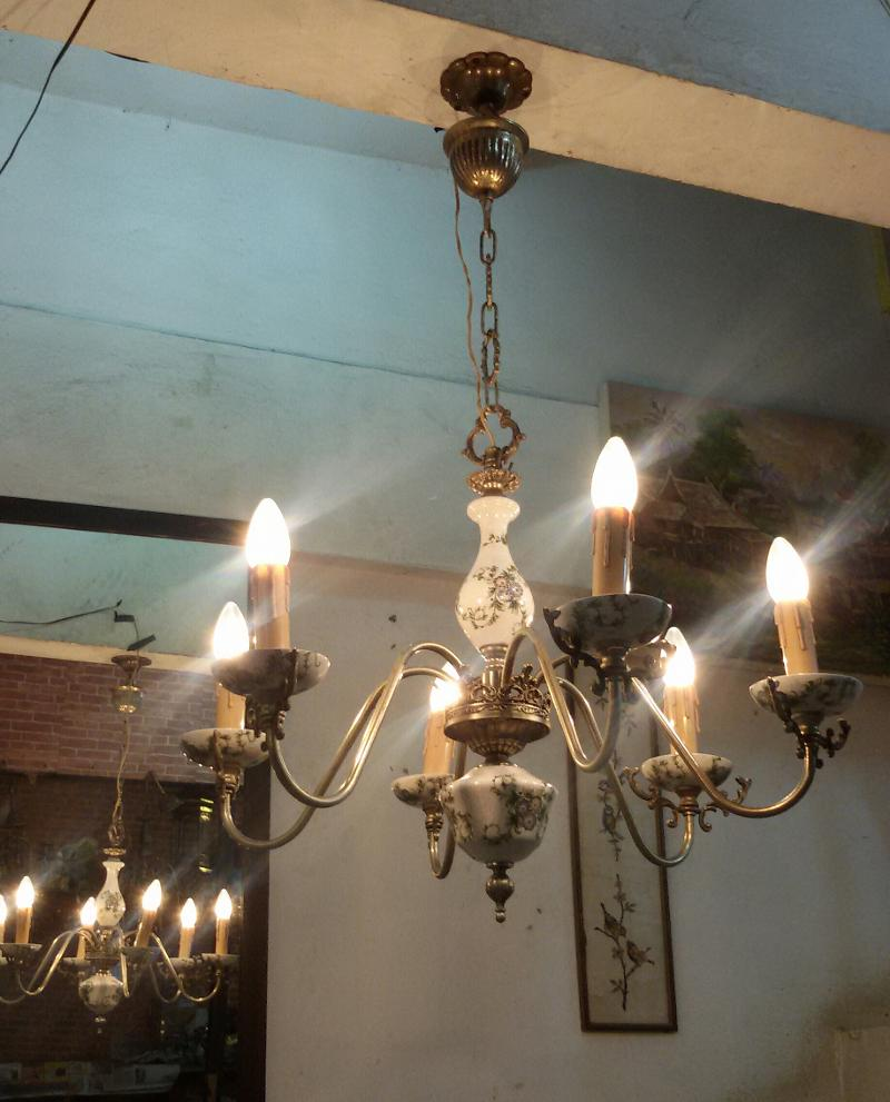 Antique Lamp,Hanging Lamp code HL01ZA  size wide 66 cm long include chain 99 cm..