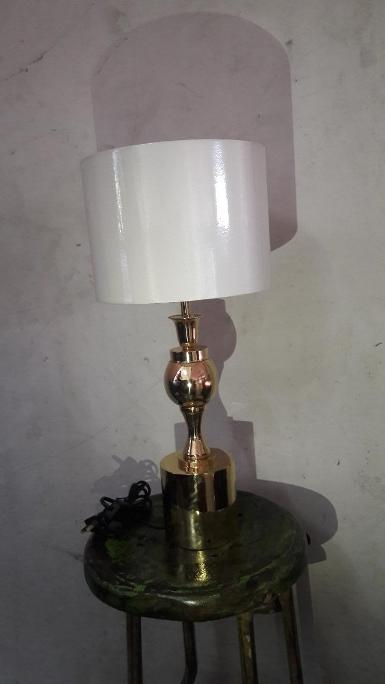 Brass Table Lamp item code BTL18Z size high 60 cm. Base 18 cm.shade 14 x 20 x 28 cm.