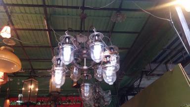 Hanging Lamp Code AT70TH size wide 90 cm high 120 cm .can be longer