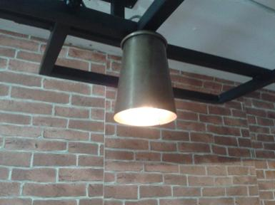 Pendant Lamp brass Item Code HML001 size shade wide 90 mm high 140 mm