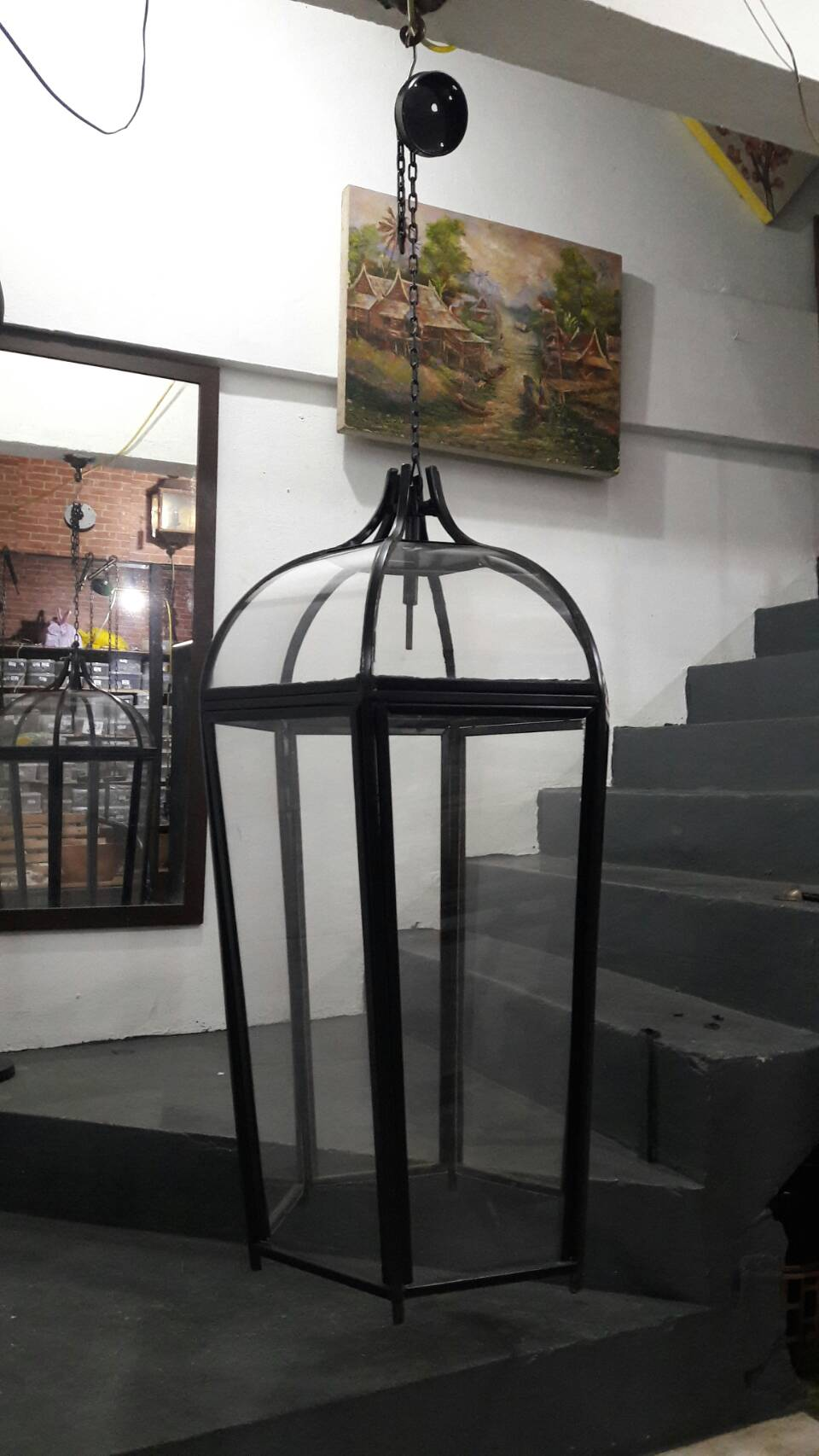 Iron lamp we make to order & make to design Item Code IRL18F size 500 x high 1000 mm. not include C.