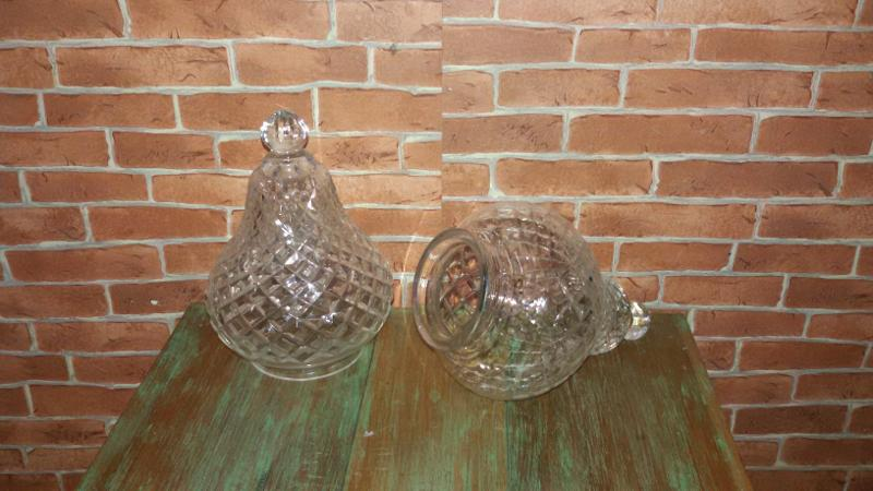 Cut glass lamp shade Code LS001A size hole 75 mm long 18.5 cm.wide13 cm.
