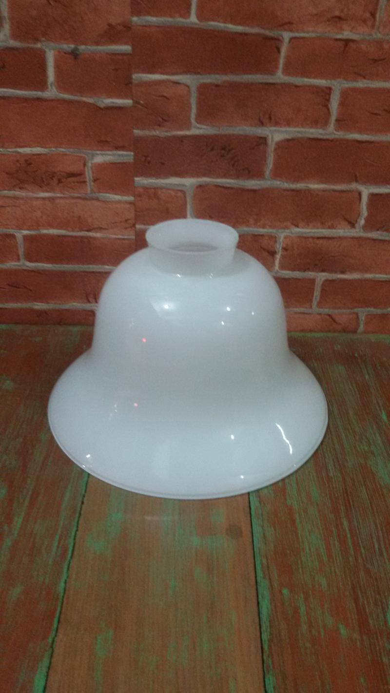 Glass Lamp shade code GLS001C size  wide 188 mm h 122 mm. top 55 mm.