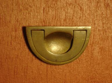 Brass Handle code H.019 size wide 36 mm. long 60 mm.