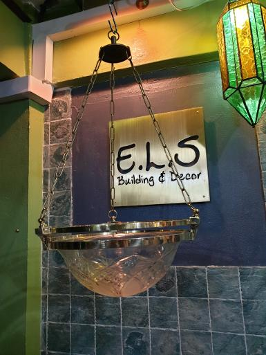 Hanging Lamp brass with cut glass Item Code ELS018A size wide 322 mm long 600 mm.